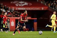 18th November 2019; Wanda Metropolitano Stadium, Madrid, Spain; European Championships 2020 Qualifier, Spain versus Romania;  Sergio Busquets (esp)  pushes forward through midfield  - Editorial Use