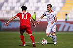 Ehsan Haji Safi of Iran (R) is challenged by Nguyen Cong Phuong of Vietnam during the AFC Asian Cup UAE 2019 Group D match between Vietnam (VIE) and I.R. Iran (IRN) at Al Nahyan Stadium on 12 January 2019 in Abu Dhabi, United Arab Emirates. Photo by Marcio Rodrigo Machado / Power Sport Images