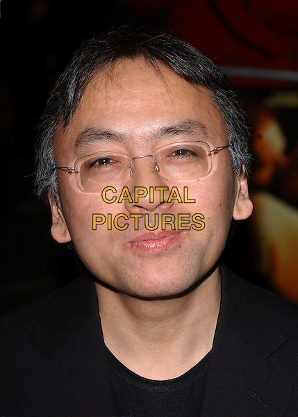 "KAZUO ISHIGURO.""The White Countess"" UK film premiere at Curzon Mayfair, London, UK..March 19th, 2006.Ref: BEL.headshot portrait glasses.www.capitalpictures.com.sales@capitalpictures.com.© Capital Pictures."