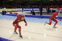SCHAATSEN: HEERENVEEN: 28-12-2013, IJsstadion Thialf, KNSB Kwalificatie Toernooi (KKT), 500m, Thijsje Oenema, ©foto Martin de Jong