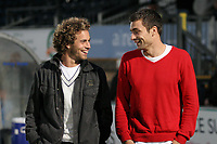 Former Wycombe players, Sergio Torres and Russell Martin have a chat at half-time during Wycombe Wanderers vs Birmingham City, Carling Cup Football at Adams Park on 13th August 2008