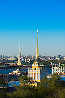 Admiralty Spire And St Petersburg Skyline