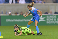 Bridgeview, IL - Wednesday August 16, 2017: Christine Nairn, Morgan Proffitt during a regular season National Women's Soccer League (NWSL) match between the Chicago Red Stars and the Seattle Reign FC at Toyota Park.