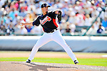 8 March 2011: Atlanta Braves pitcher Scott Proctor in action during a Spring Training game against the New York Yankees at Champion Park in Orlando, Florida. The Yankees edged out the Braves 5-4 in Grapefruit League action. Mandatory Credit: Ed Wolfstein Photo