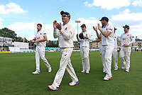 Neil Wagner of Essex leaves the field with his Essex team mates after victory during Essex CCC vs Hampshire CCC, Specsavers County Championship Division 1 Cricket at The Cloudfm County Ground on 21st May 2017
