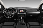 Stock photo of straight dashboard view of 2017 Volkswagen Amarok Aventura 4 Door Pick Up