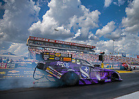 Sep 2, 2018; Clermont, IN, USA; NHRA funny car driver Jack Beckman during qualifying for the US Nationals at Lucas Oil Raceway. Mandatory Credit: Mark J. Rebilas-USA TODAY Sports