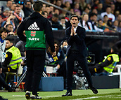 17th March 2019, Mestalla Stadium, Valencia, Spain; La Liga football, Valencia versus Getafe; Valencia CF Head coach Marcelino Garcia Toral gestures to the 4th official