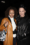 As The World Turns' Tamara Tunie poses with skater Johnny Weir at the Figure Skating in Harlem  - the 2011 Skating with the Stars on April 4, 2011 at Wollman Rink, Central Park, New York City, New York. (Photo by Sue Coflin/Max Photos)
