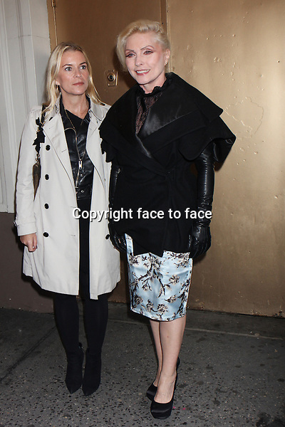 """Debbie Harry and guest attends the opening night performance of """"Orphans"""" at the Gerald Schoenfeld Theatre in New York, 18.04.2013..Credit: Rolf Mueller/face to face"""