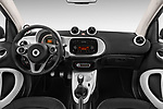 Stock photo of straight dashboard view of 2017 Smart fortwo prime 3 Door micro car