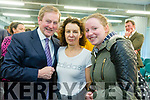 Taoiseach Enda Kenny TD attend the launch of the €16.5m sports academy at ITT North Campus on Monday.  Taoiseach Enda Kenny meeting students Bridget Nolan and Jackie Nì Shìochàin