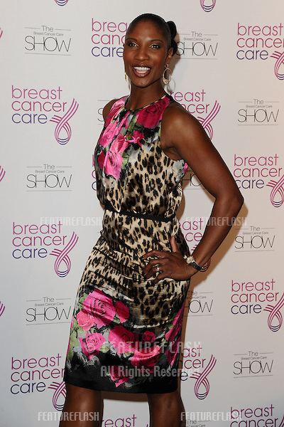 Denise Lewis arriving for the Breast Cancer Care Fashion Show, Grosvenor House Hotel, London. 02/10/2012 Picture by: Steve Vas / Featureflash