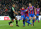 9th December 2017, Selhurst Park, London, England; EPL Premier League football, Crystal Palace versus Bournemouth; Jordon Ibe of Bournemouth and Jeffrey Schlupp battle for possession