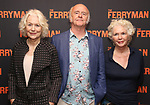 """Dearbhla Molloy, Mark Lambert and Fionnula Flanagan attend the Meet the Broadway cast of """"The Ferryman"""" during the press photo call on October 4, 2018 at Sardi's in New York City."""