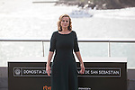 Awarded actress Emily Watson poses for the photographers at photocall during 63rd Donostia Zinemaldia (San Sebastian International Film Festival) in San Sebastian, Spain. September 25, 2015. (ALTERPHOTOS/Victor Blanco)