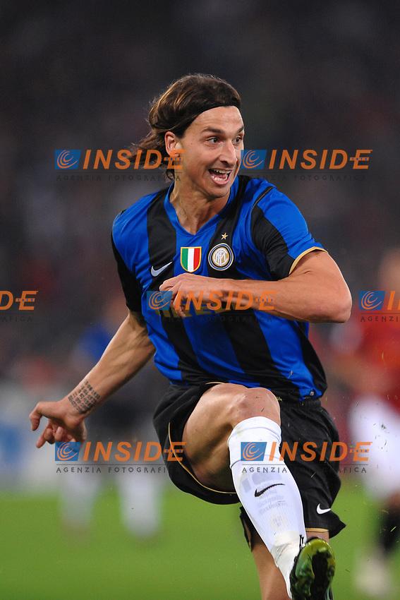 Zlatan Ibrahimovic (Inter)<br /> Roma 19/10/2008 Stadio &quot;Olimpico&quot; <br /> Campionato Italiano Serie A 2008/2009<br /> Roma Inter (0-4)<br /> Foto Andrea Staccioli Insidefoto
