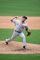 St. Lucie Mets relief pitcher Justin Brantley (18) delivers a pitch during a game against the Lakeland Flying Tigers on June 11, 2017 at Joker Marchant Stadium in Lakeland, Florida.  Lakeland defeated St. Lucie 1-0.  (Mike Janes/Four Seam Images)