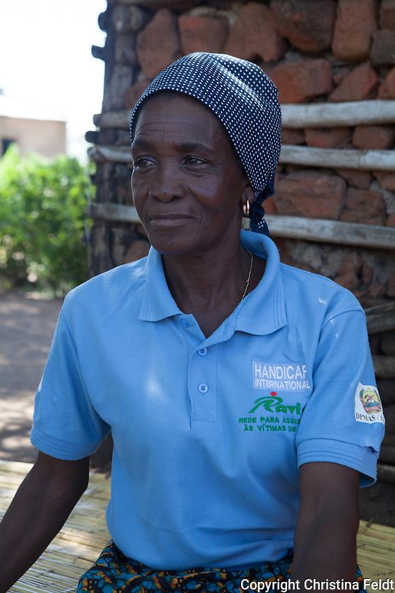Handicap International activist in Dondo area, Sofala province, Mozambique.