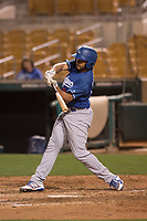 Los Angeles Dodgers third baseman Jose Brizuela (67) during a Minor League Spring Training game against the Seattle Mariners at Camelback Ranch on March 28, 2018 in Glendale, Arizona. (Zachary Lucy/Four Seam Images)