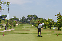Saleh ALKAABI (QAT) watches his tee shot on 3 during Rd 1 of the Asia-Pacific Amateur Championship, Sentosa Golf Club, Singapore. 10/4/2018.<br /> Picture: Golffile | Ken Murray<br /> <br /> <br /> All photo usage must carry mandatory copyright credit (&copy; Golffile | Ken Murray)
