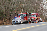 COLEBROOK, CT. 31 December 2018-123118 - Fire and emergency crews respond along Route 8 of reports of a missing person in Colebrook on Monday. CT State Police and Fire Departments from Colebrook, Barkhamsted, Winsted,and Tolland, MA as well were helping assist in the search of the missing person. Bill Shettle Republican-American