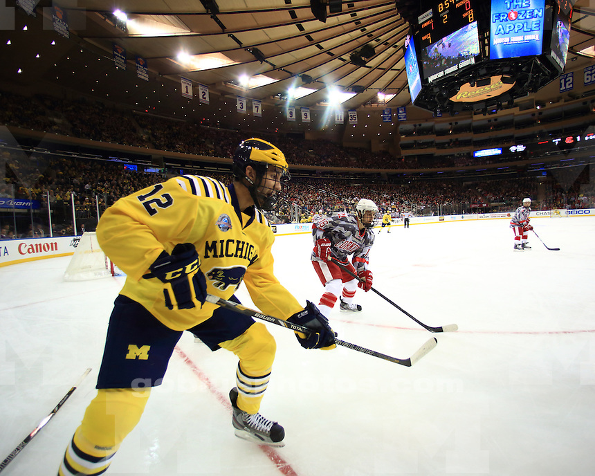 The University of Michigan men's ice hockey team lost to Cornell, 5-1, at Madison Square Garden in New York, N.Y., on November 24, 2012.