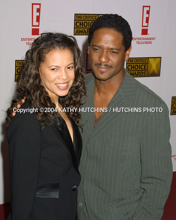 ©2004 KATHY HUTCHINS / HUTCHINS PHOTO.9TH ANNUAL CRITICS' CHOICE AWARDS.PRESENTED BY THE BROADCAST CRITICS ASSOCIATION.BEVERLY HILLS, CA.JANUARY 10, 2004..BLAIR UNDERWOOD AND WIFE DESIREE
