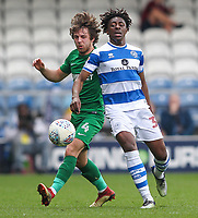 Preston North End's Ben Pearson vies for possession with Queens Park Rangers' Bright Osayi-Samuel<br /> <br /> Photographer Andrew Kearns/CameraSport<br /> <br /> The EFL Sky Bet Championship - Queens Park Rangers v Preston North End - Loftus Road - London<br /> <br /> World Copyright &copy; 2018 CameraSport. All rights reserved. 43 Linden Ave. Countesthorpe. Leicester. England. LE8 5PG - Tel: +44 (0) 116 277 4147 - admin@camerasport.com - www.camerasport.com