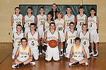 November 17, 2014- Tuscola, IL- The 2014-2015 7th Grade Hornet Boys basketball team. Standing from left are Ben Dixon, Josh Dyer, Ryan Bartley, Brandon Douglas, Jonah Pierce, coach Justin Bozarth, Max Wyninger, Jake Kibler, and Lucas Kresin. Kneeling from left are Grant Hale, Cameron Homann, Logan Tabeling, Nicholas Woods, and Mason Day. Sitting from left are Colin Lewis and Nick Williams. [Photo: Douglas Cottle]