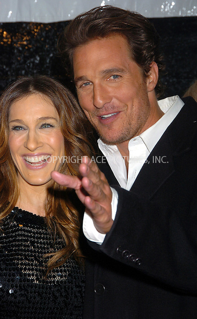 "WWW.ACEPIXS.COM . . . . . ....NEW YORK, MARCH 8, 2006....Sarah Jessica Parker and Matthew McConaughey at the ""Failure to Launch"" New York Premiere.....Please byline: AJ Sokalner - ACEPIXS.COM.... *** ***..Ace Pictures, Inc:  ..Philip Vaughan (212) 243-8787 or (646) 769 0430..e-mail: info@acepixs.com..web: http://www.acepixs.com"
