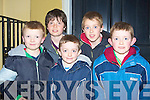 YOUNG: Even some of the youths of kerry who had a great time in watching the Samhlai?ocht Eastyer parade on Sunday night in Tralee. Front l-r: Bryan Devane, Donal and Padraig Crean. Back l-r: Daniel and Darragh O'Brien...