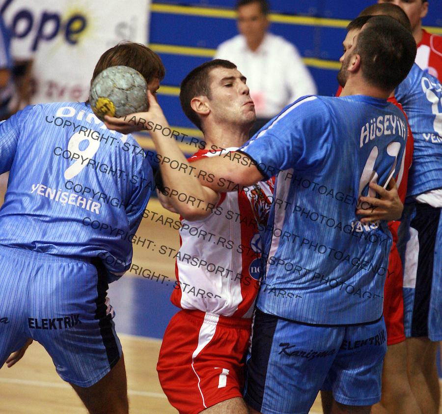 Sport Rukomet Handball Crvena Zvezda Red Star Mersin Yenisehir BSK European Cup Champions Milasevic Mirko 6.10.2007. (credit image © photo: Pedja MIlosavljevic)