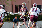 Los Angeles, CA 03/08/10 - Pat Ryan (FSU # 26) and Colin Tempelis (LMU # 13)    in action during the Florida State-LMU MCLA interconference men's lacrosse game at Leavey Field (LMU).  Florida State defeated LMU 12-7.