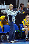23rd IHF Men's World Championship; FRA-BRA.Coach (BRA) Jordi Ribera.