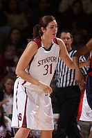 15 November 2007: Stanford Cardinal Morgan Clyburn during Stanford's 97-62 loss against the USA Women's National Basketball Team at Maples Pavilion in Stanford, CA.
