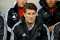 Saturday, 9 March 2013<br /> <br /> Pictured: Michael Laudrup Manager of Swansea City<br /> <br /> Re: Barclays Premier League West Bromich Albion v Swansea City FC  at the Hawthorns, Birmingham, West Midlands