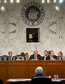"United States Senator Dan Coats (Republican of Indiana), Chairman, US Congress Joint Economic Committee, listens as Janet L. Yellen, Chair, Board of Governors of the Federal Reserve System testifies before the  committee on ""The Economic Outlook"" in Washington, DC on Thursday, November 17, 2016.  In her prepared remarks Yellen stated ""With regard to the outlook, I expect economic growth to continue at a moderate pace sufficient to generate some further strengthening in labor market conditions and a return of inflation to the Committee's 2 percent objective over the next couple of years.""<br /> Credit: Ron Sachs / CNP"