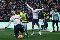 Preston North End's Tom Clarke, Blackburn Rovers' Adam Armstrong and Preston North End's Ben Pearson<br /> <br /> Photographer Rachel Holborn/CameraSport<br /> <br /> The EFL Sky Bet Championship - Preston North End v Blackburn Rovers - Saturday 24th November 2018 - Deepdale Stadium - Preston<br /> <br /> World Copyright © 2018 CameraSport. All rights reserved. 43 Linden Ave. Countesthorpe. Leicester. England. LE8 5PG - Tel: +44 (0) 116 277 4147 - admin@camerasport.com - www.camerasport.com