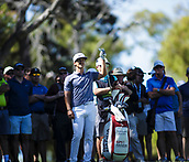 10th February 2018, Lake Karrinyup Country Club, Karrinyup, Australia; ISPS HANDA World Super 6 Perth golf, third round; Thorbjorn Olesen (DEN) prepares to hit from the crowd