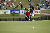 Soren Hansen lines up his putt on the 15th green during the 3rd round of the 2008 Open de France Alstom at Golf National, Paris, France June 28th 2008 (Photo by Eoin Clarke/GOLFFILE)