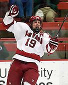 Alex Killorn (Harvard - 19) - The Harvard University Crimson defeated the University of New Hampshire Wildcats 7-6 on Tuesday, November 22, 2011, at Bright Hockey Center in Cambridge, Massachusetts.