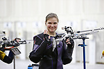 COLUMBUS, OH - MARCH 11: Mindy Miles of Texas Christian University waves to fans during the Division I Rifle Championships held at The French Field House on the Ohio State University campus on March 11, 2017 in Columbus, Ohio. (Photo by Jay LaPrete/NCAA Photos via Getty Images)