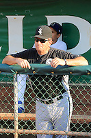 Chicago White Sox roving coach Vance Law (5) prior to the game against the Ogden Raptors in Pioneer League play at Lindquist Field on August 14, 2013 in Ogden Utah. (Stephen Smith/Four Seam Images)