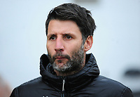Lincoln City manager Danny Cowley during the pre-match warm-up<br /> <br /> Photographer Andrew Vaughan/CameraSport<br /> <br /> The Emirates FA Cup Second Round - Lincoln City v Carlisle United - Saturday 1st December 2018 - Sincil Bank - Lincoln<br />  <br /> World Copyright © 2018 CameraSport. All rights reserved. 43 Linden Ave. Countesthorpe. Leicester. England. LE8 5PG - Tel: +44 (0) 116 277 4147 - admin@camerasport.com - www.camerasport.com