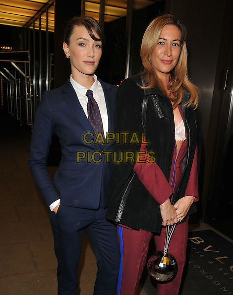 guest and Laura Pradelska at the Glass Magazine 7th Anniversary Dinner, Bulgari Hotel, Knightsbridge, London, England, UK, on Wednesday 25 January 2017.<br /> CAP/CAN<br /> &copy;CAN/Capital Pictures