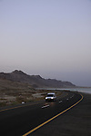 Israel, route 90 by the Dead Sea