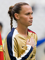 Christie Rampone. The U.S. defeated Finland, 4-1 during the Four Nations Tournament in  Guangzhou, China on January 18, 2008.