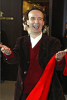 "Actor and director Roberto Benigni at the Berlinale 2006, 56. Internationale Filmfestspiele Berlin / Berlin Film Festival, Photocall for ""La tigre e la neve / The Tiger and the Snow"""