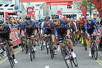 The 2017 Abergavenny Festival of Cycling on Friday 7th July 2017 - <br /> <br /> The start of the Elite race<br /> <br /> <br /> Jeff Thomas Photography<br /> www.jaypics.photoshelter.com<br /> e-mail swansea1001@hotmail.co.uk<br /> Mob: 07837 386244